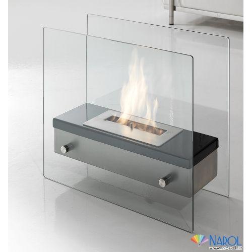Caminetto A Bioetanolo In Metallo E Vetro Temprato Neos Narol Ethanol Fireplace Bioethanol Fireplace Fireplace