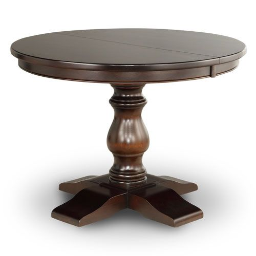 solid wood round dining table custom pedestal dining table