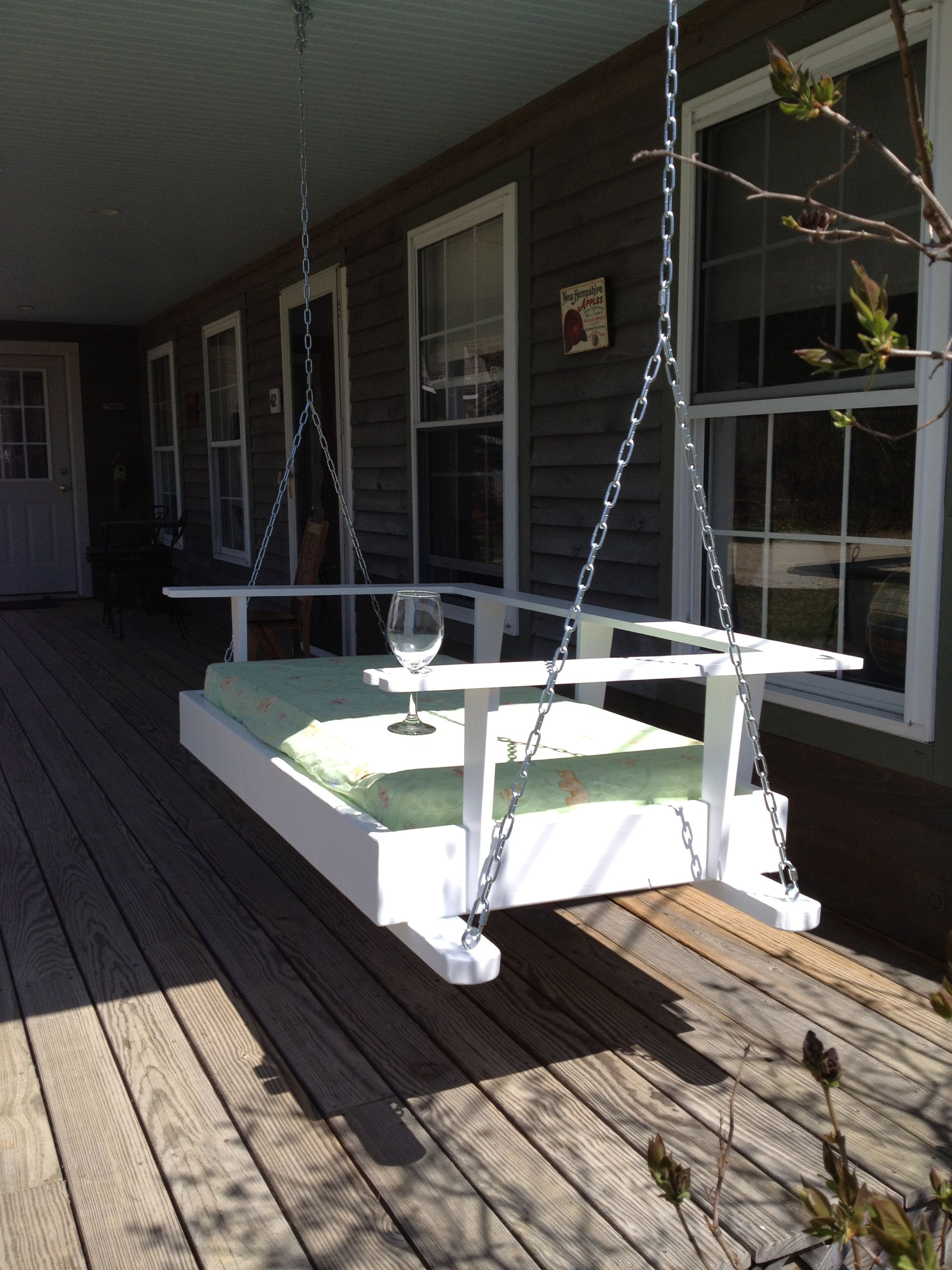 Finished Porch Swing That My Husband Made For Me Used An Used Crib