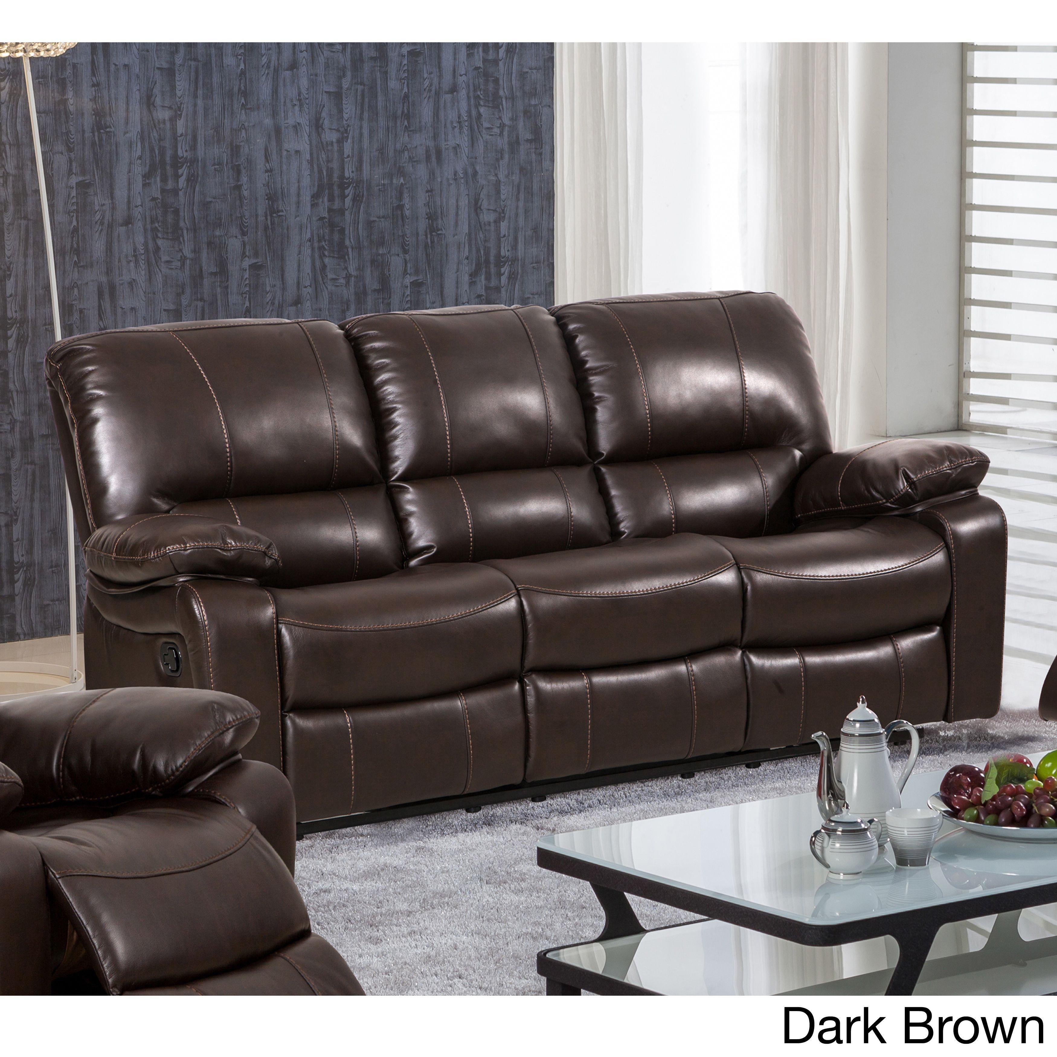 2678CS Reclining Leather Sofa by HTL SKU 3S2XA