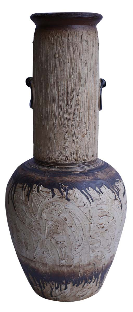 Bulk Wholesale Rustic Handmade Ceramic Vase Hand Painted
