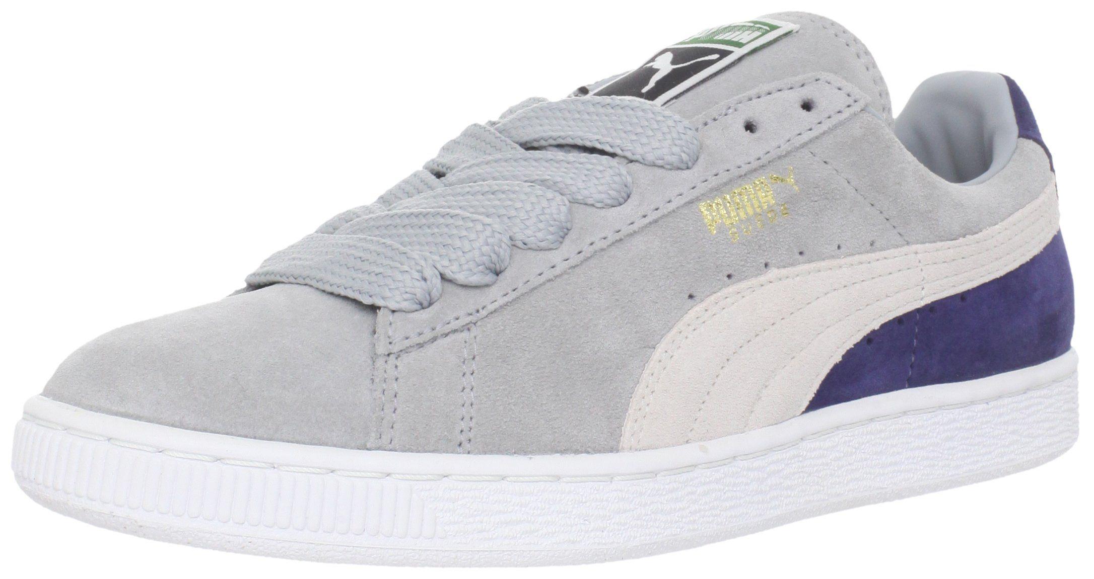PUMA Suede Classic Sneaker,Quarry/White/Medieval Blue,12 M US Women's/10.5 M US…
