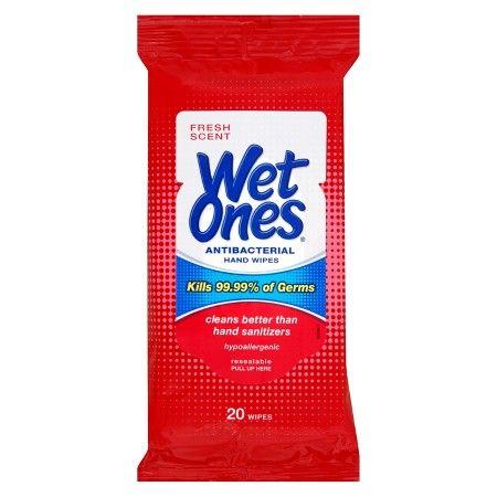 Wet Ones Antibacterial Hand Wipes Fresh Scent 20 Ct Target
