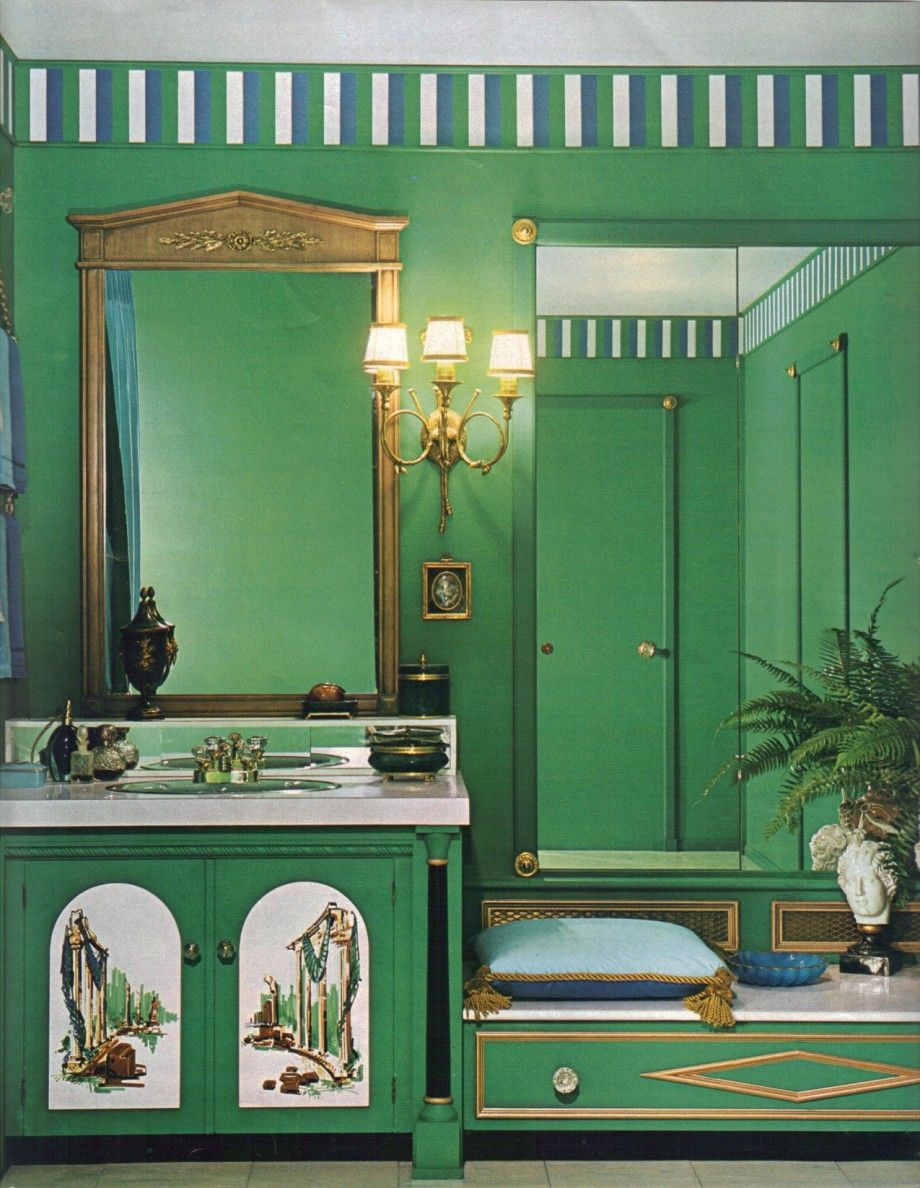 16 mod interior designs from 1968 | interiors, gold bathroom and