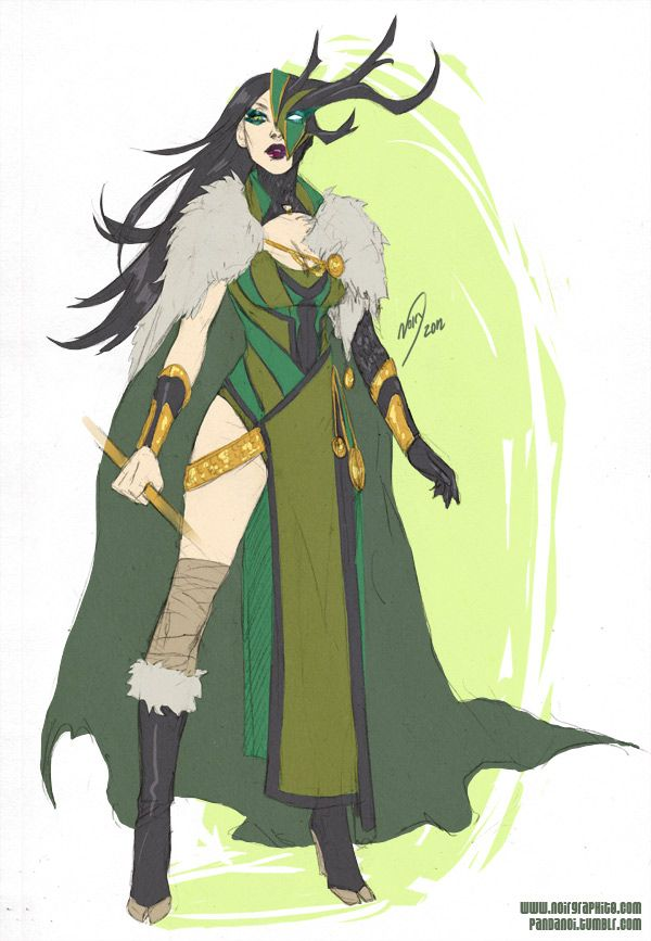 "pandanoi: "" Marvel's Hela… except I redesigned her"