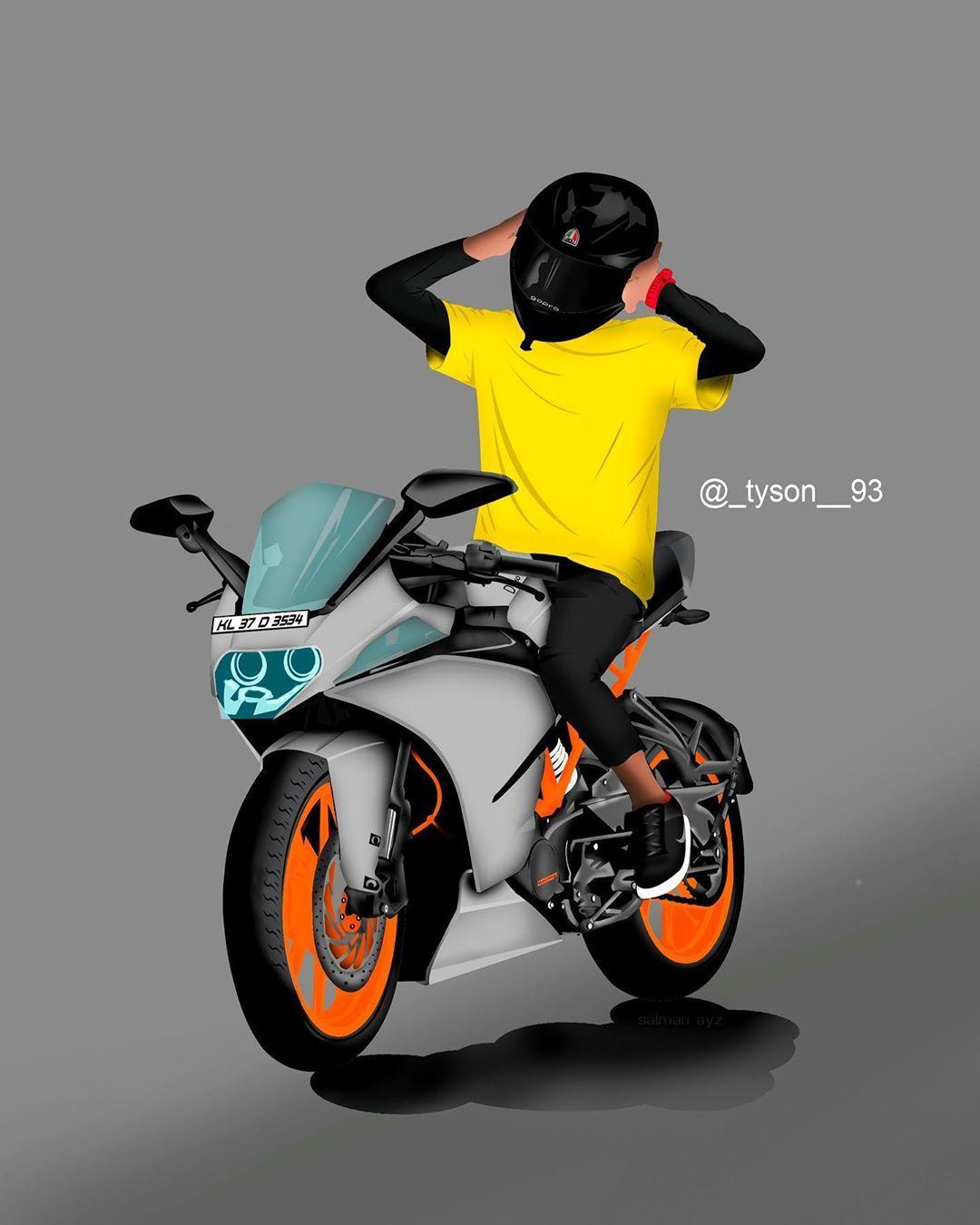 Crdtz Salman Ayz Ktmrc200 Bike Sketch Duke Bike Bike Drawing