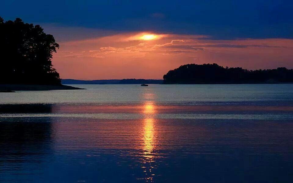 Lake ouachita sunset hot springs national park
