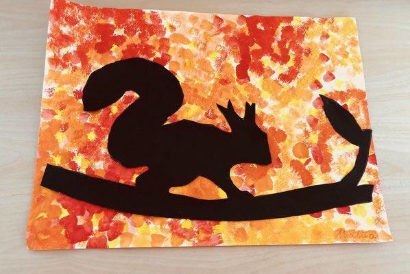 Ideen für den Kunstunterricht: Eichhörnchen im Herbst - Grundschule und Basteln - Der Blog von Beate Kurt #herbstdekobastelnnaturmaterialien