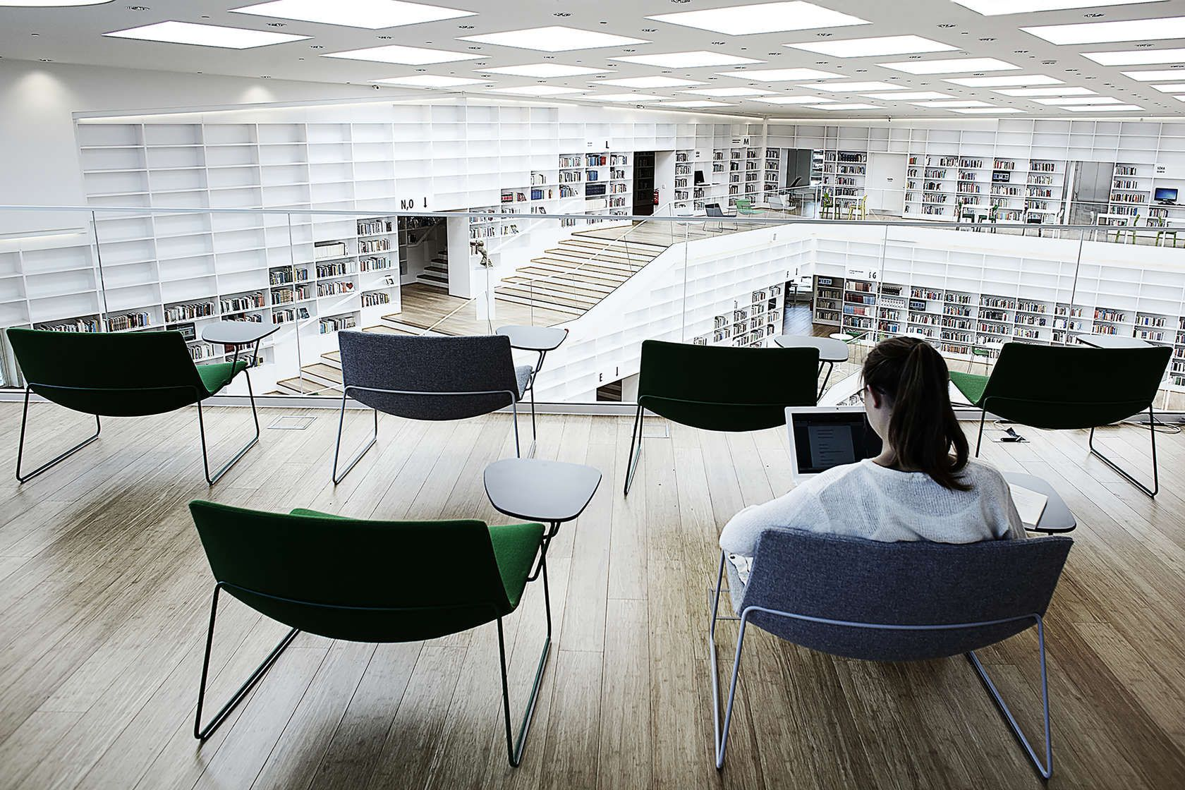The building that reinterprets the library in a multi functional design is laid…