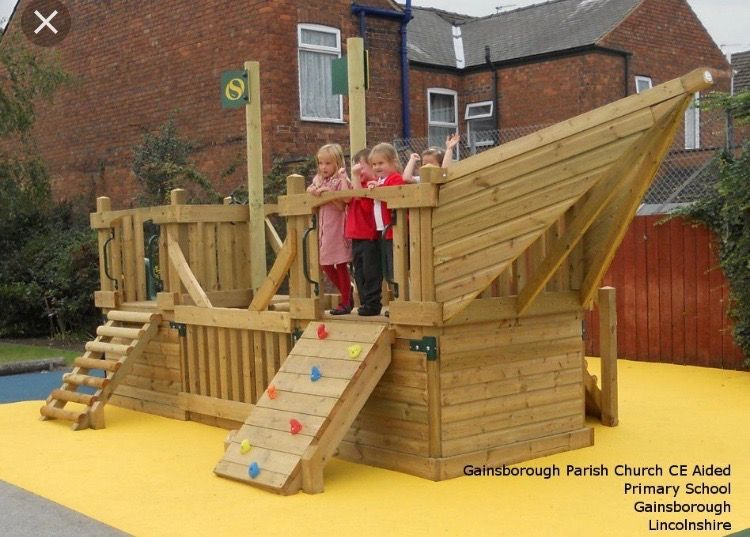 Pin by Christin on Viking Ship   Playground structures ...