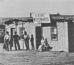 Mason's Hotel , Contention,  Az. 1880