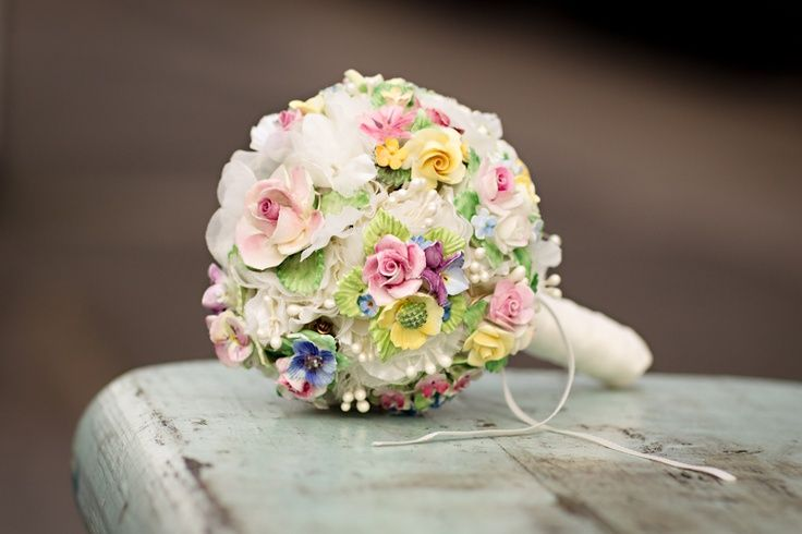 This Floral China Vintage Brooch Bouquet Is As Delicate Any Living Flower Just Goes To Show That A Bridal Doesnt Always Have