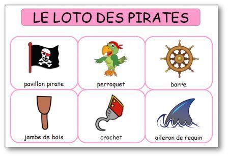 Loto des pirates à imprimer | océan : Jack le pirate | Pinterest ...