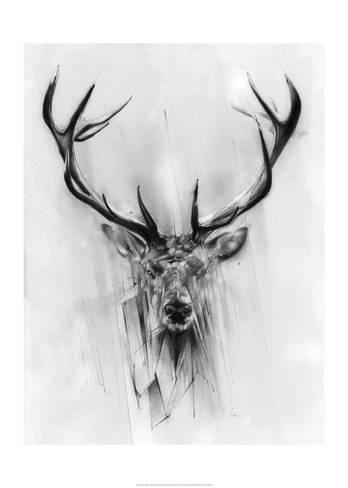 'Red Deer' Art Print - Alexis Marcou | Art.com