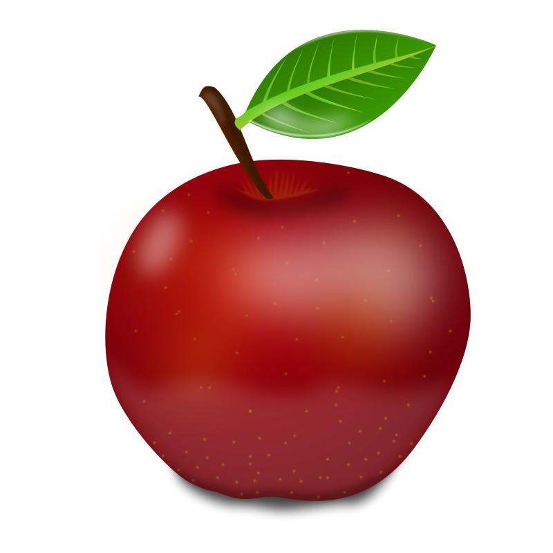 red apple clipart Free Large Images Apple, Red apple