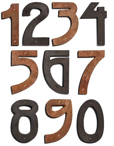 Bronze Copper Arts Crafts House Numbers Add Character To Your Address With A Set Of Distinctive Arts Arts And Crafts House Arts Crafts Style House Numbers