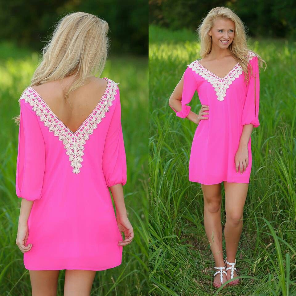 Cute pink tunic dress