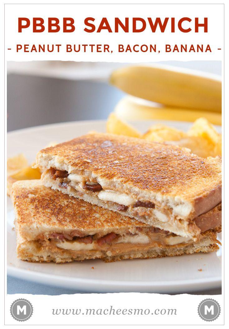Peanut Butter Bacon Sandwiches Macheesmo Recipe Bacon Sandwich Sandwiches Bacon