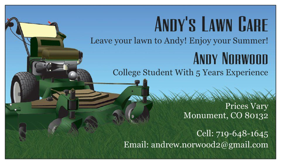 Order confirmation lawn care business lawn care
