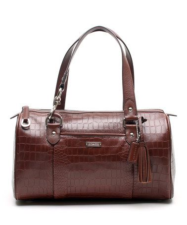 Look at this #zulilyfind! Fig Avery Embossed Crocodile Large Satchel by Coach #zulilyfinds....bought this at the outlet..$ 125.00