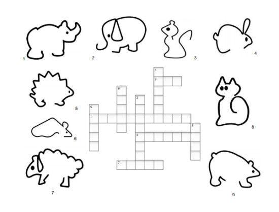 crucigrama animales niños | CRUCIGRAMAS | Pinterest | Animales