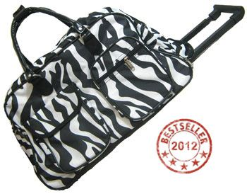 Saddles Tack Horse Supplies - ChickSaddlery.com Large Zebra Print Rolling Duffle