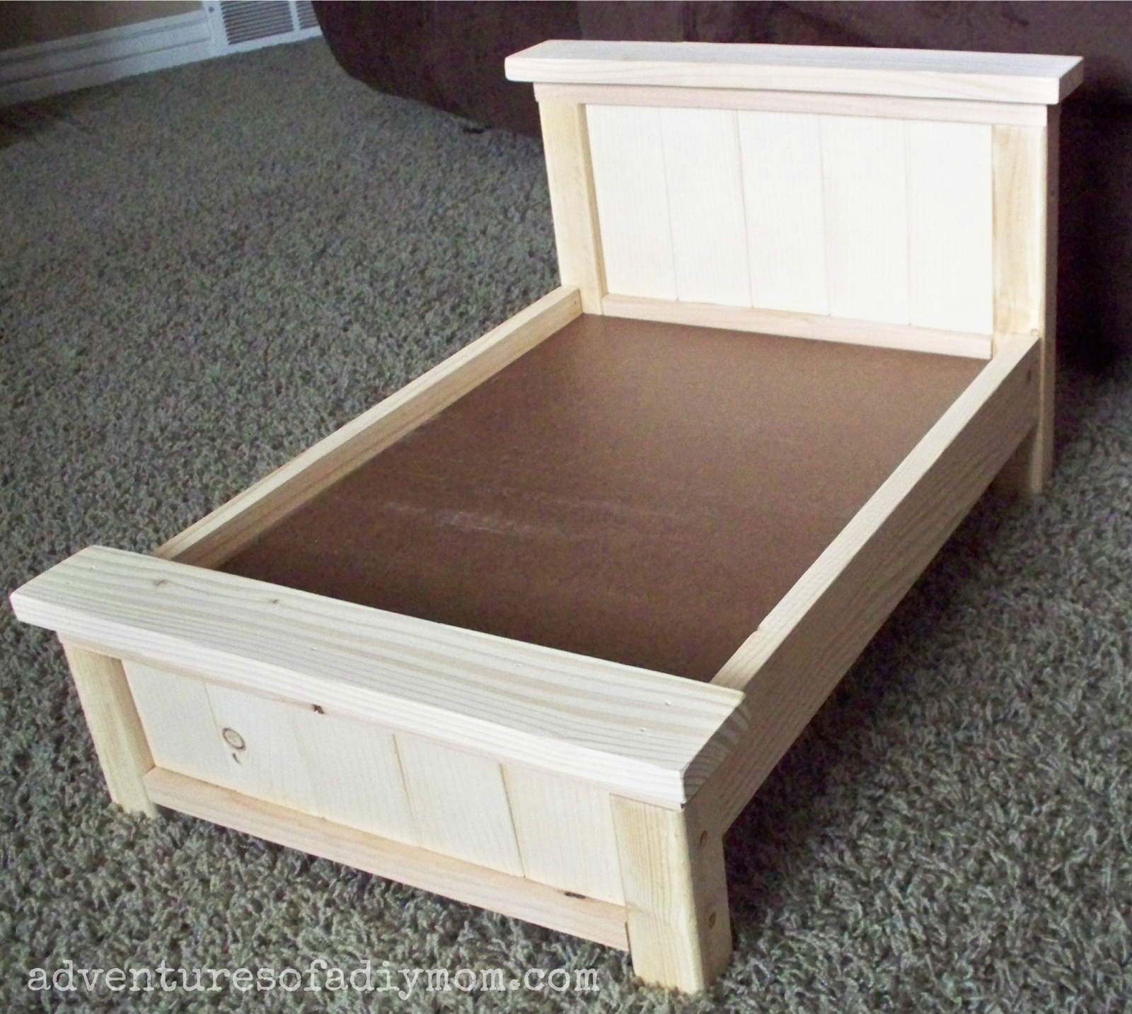 Diy Farmhouse Doll Bed For American Girl Dolls American Girl Doll Bed Doll Beds And Bed Plans