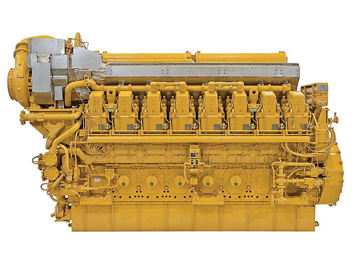 Cat C28016 Caterpillar Marine Propulsion Engine 7268hp