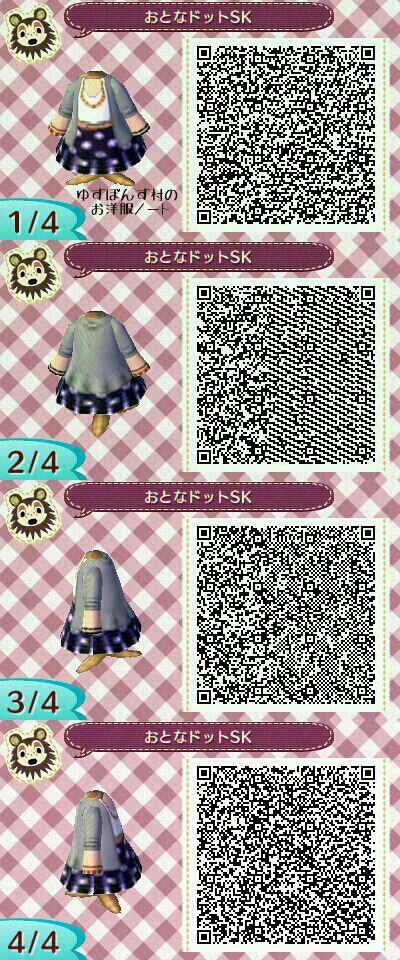 New Leaf Fashion   Animal crossing qr codes clothes, Animal