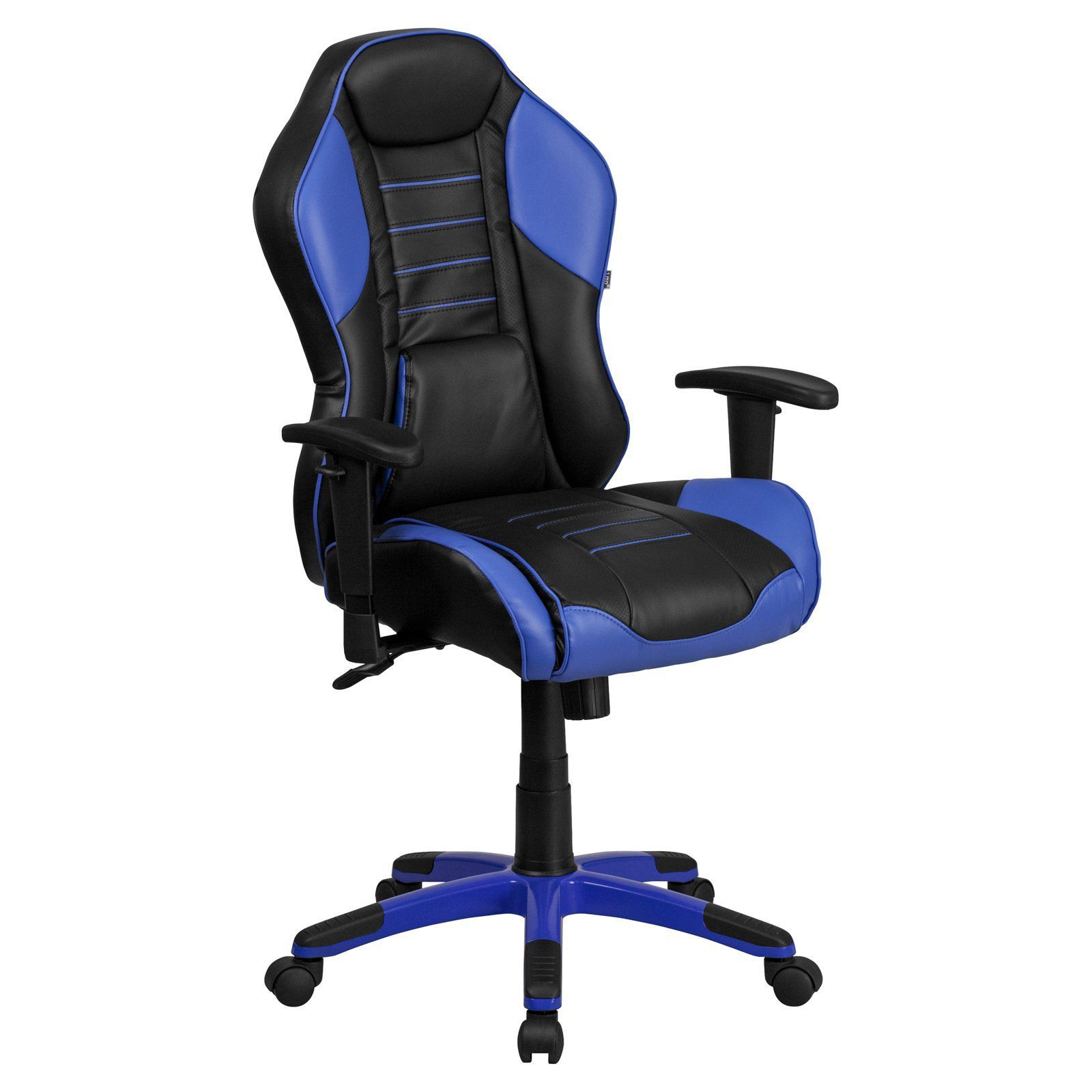 Flash furniture high back vinyl executive swivel office chair with