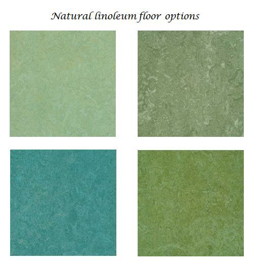 The floor will be marmoleum one of these shades for Colourful lino flooring