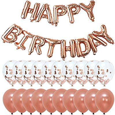 Amazon Rose Gold Happy Birthday Party Decorations
