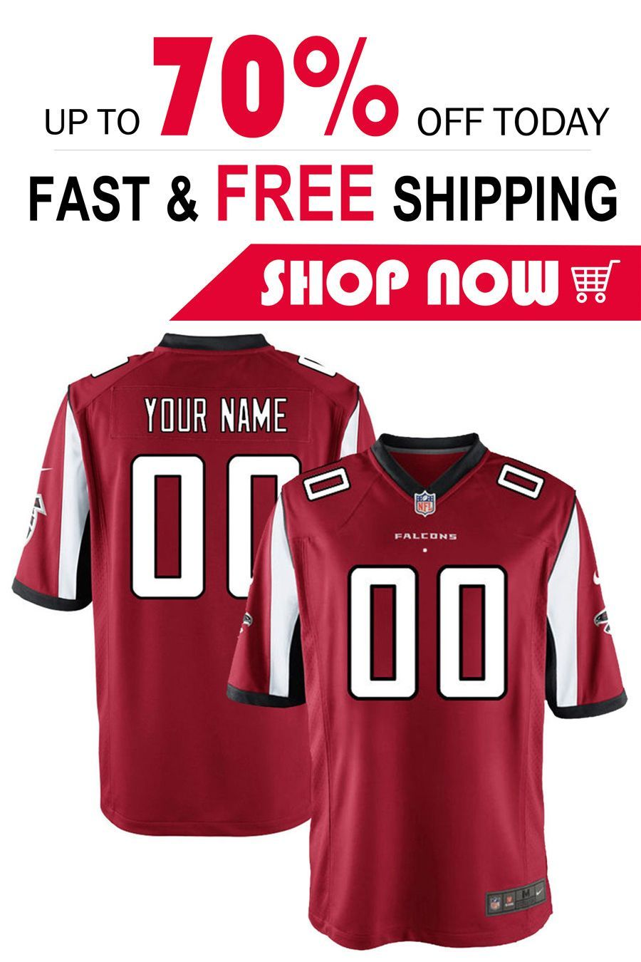 Pin By Mamacitasam On Nfl Jersey Custom Football Atlanta Falcons Football