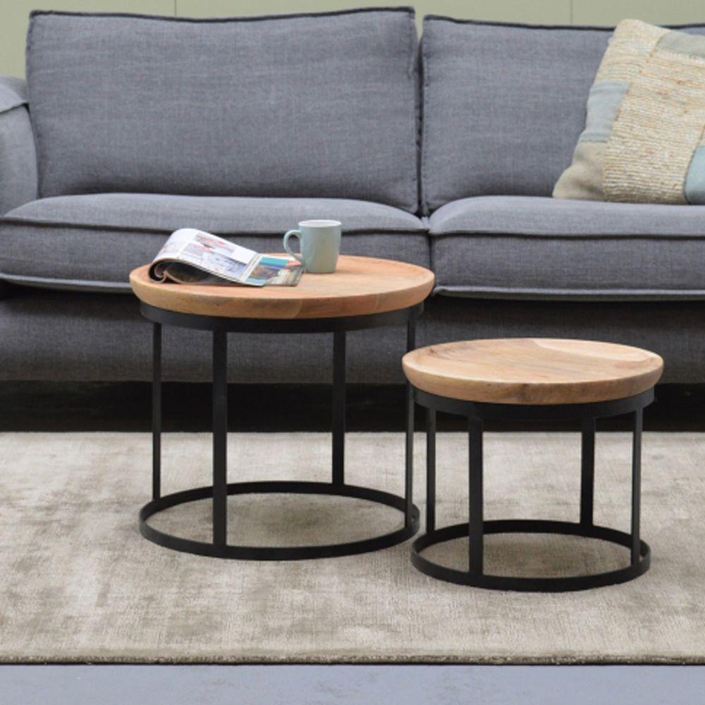 2er Set Couchtisch Duncan Metall Mango Couchtisch Metall Sofa Tisch Couchtisch