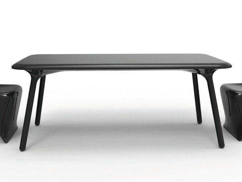 Mesa rectangular de polietileno de diseño