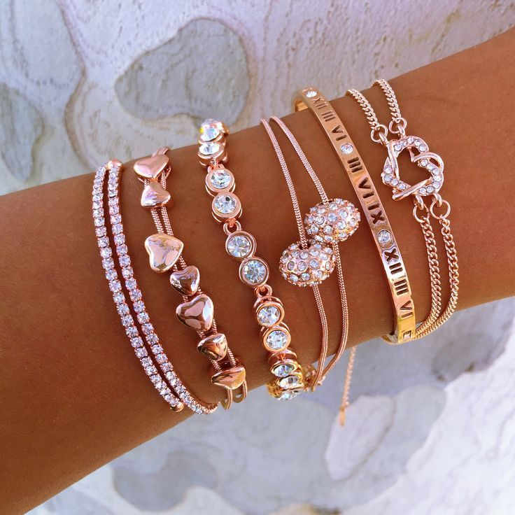 Rose Gold Everything II Stack - jewelry necklaces, diamond jewellery designs, online fashion jewellery…