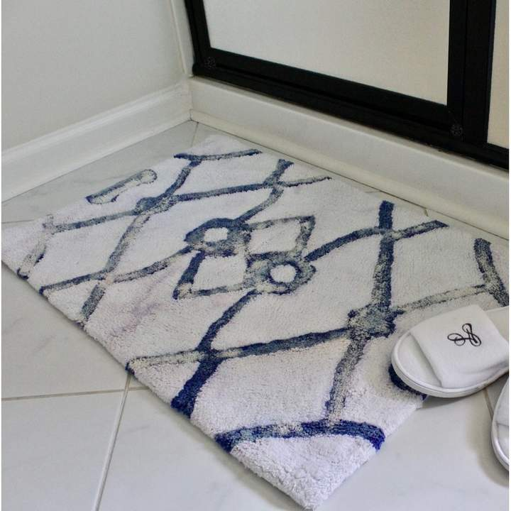 Wrought Studio Adora Handmade Bath Rug Bath Rugs Blue Bath Mat
