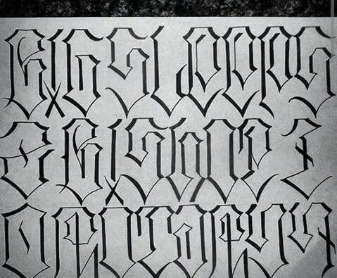 Chicano Lettering Graffiti Lettering Lettering Alphabet Fonts