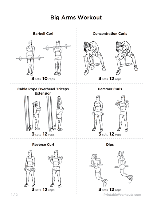 graphic regarding Printable Arm Workouts identify Pin upon Health