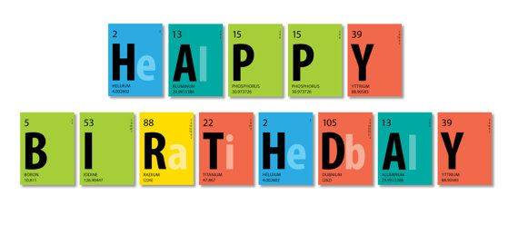 periodic table banner happy birthday banner 85 x 11 color group 4 instant download - 8 5 X 11 Periodic Table Of Elements