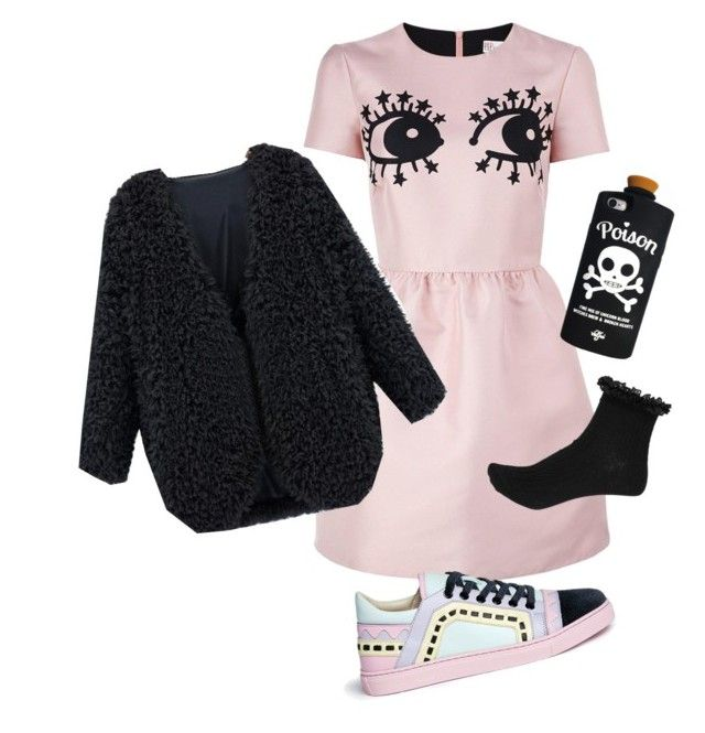 """Untitled #46"" by trashghost on Polyvore featuring RED Valentino, Valfré and Sophia Webster"