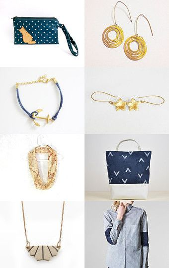 gold blue by Stefania on Etsy--Pinned with TreasuryPin.com