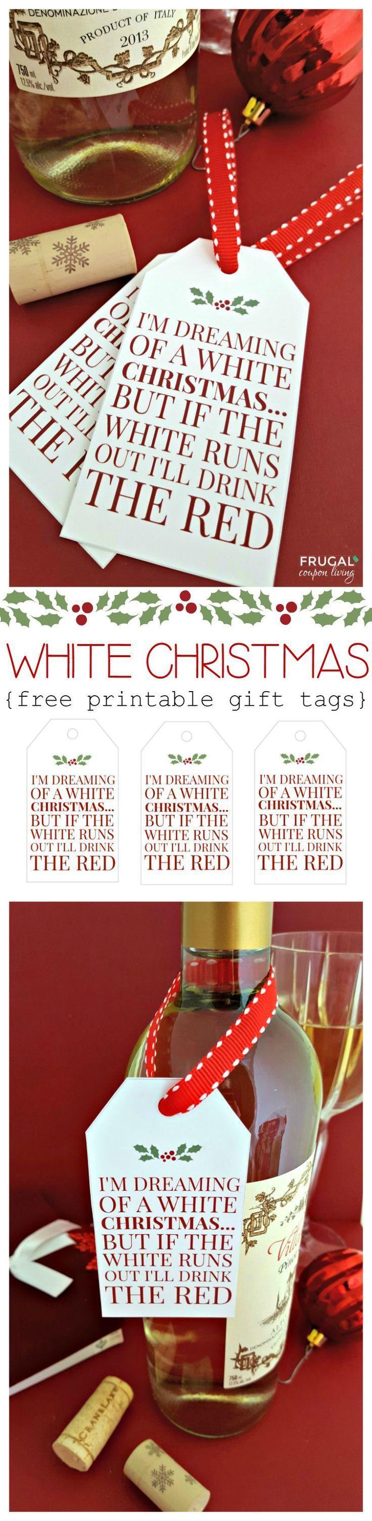 White Christmas Wine Free Printable Tag Recipe Christmas Wine Christmas Tag Christmas Diy