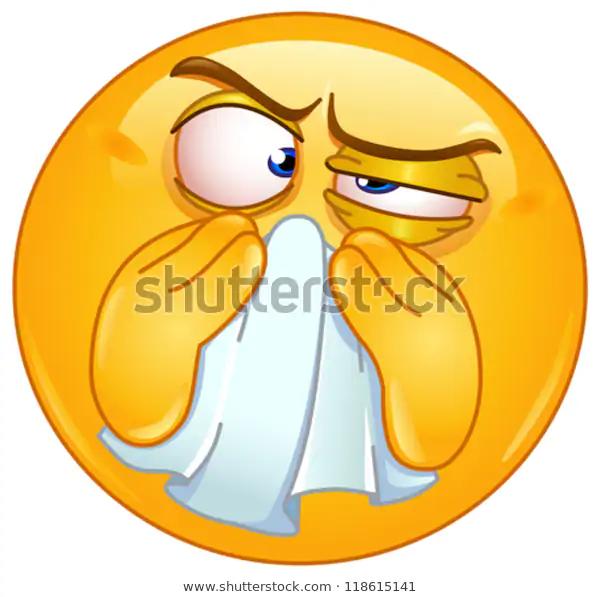 Emoticon Wiping His Nose Stock Vector Royalty Free 118615141 Emoji Design Cute Emoji Emoticon