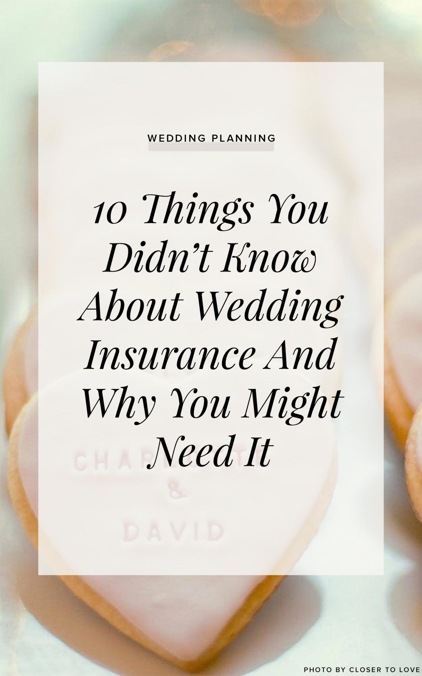 10 Things You Didn T Know About Wedding Insurance And Why You Probably Need It With Images Wedding Insurance Tips Wedding Insurance Bee Wedding