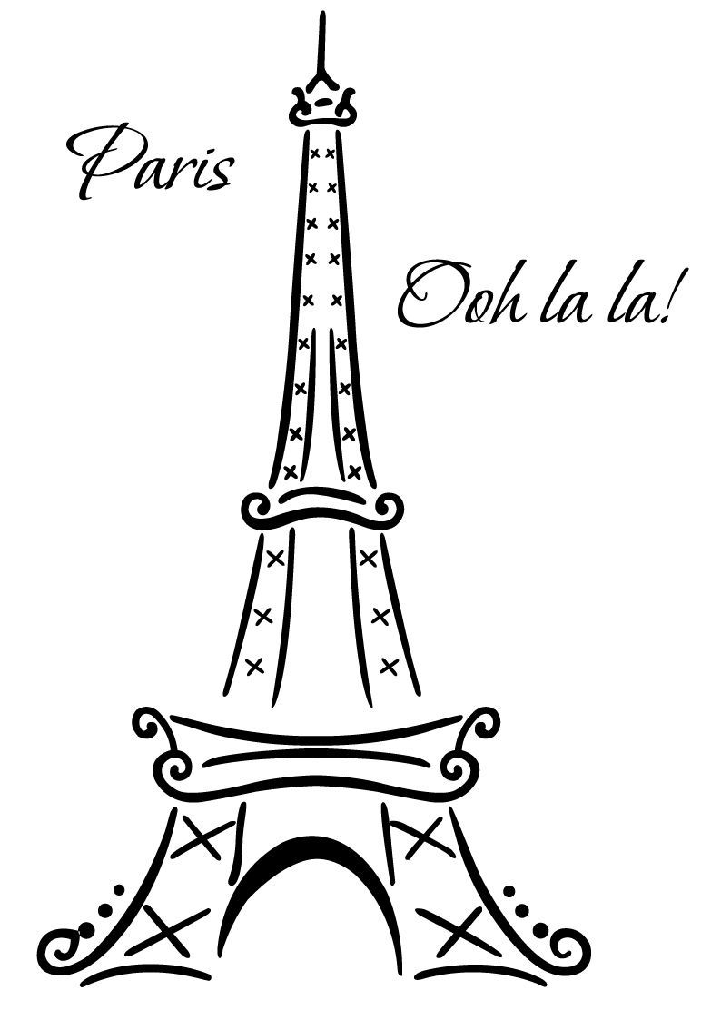 eiffel tower paris ooh la la wall deco vinyl decal wall art rh pinterest com Paris Border Clip Art oh la la clip art