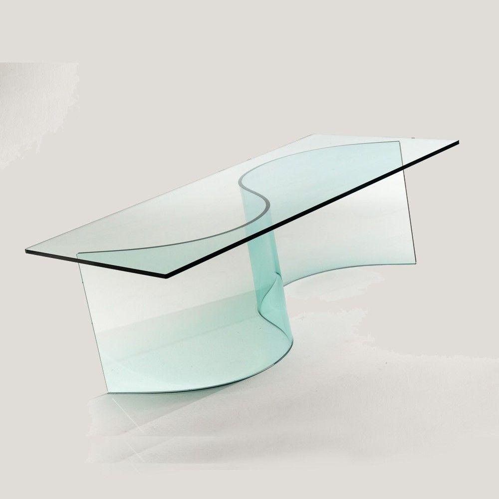 Tavolino in vetro curvato design | Tavolini da salotto nel 2018 ...