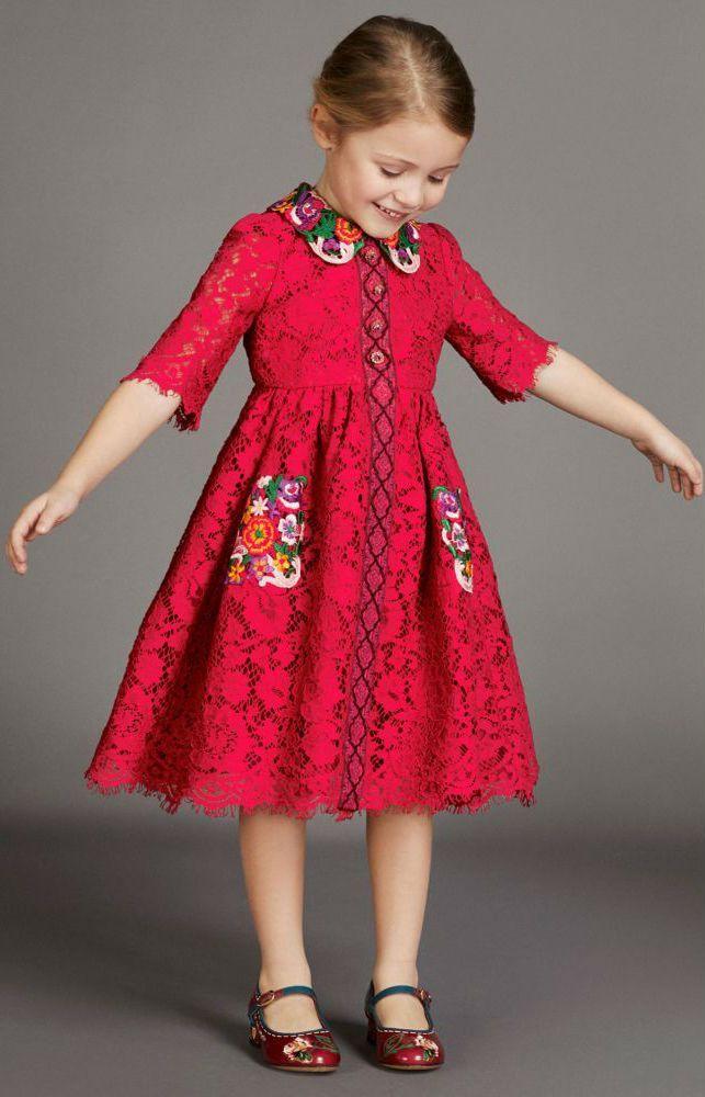 9b8583b1286 On SALE! Love this DOLCE   GABBANA Girls Mini Me Red Lace Appliqué Party  Dress.  dolcegabbana  kids  kidsfashion  girl  fashion  style  minime