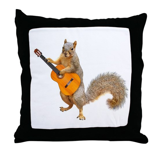 CafePress Squirrel Acoustic Guitar Pillow Case 1798820225
