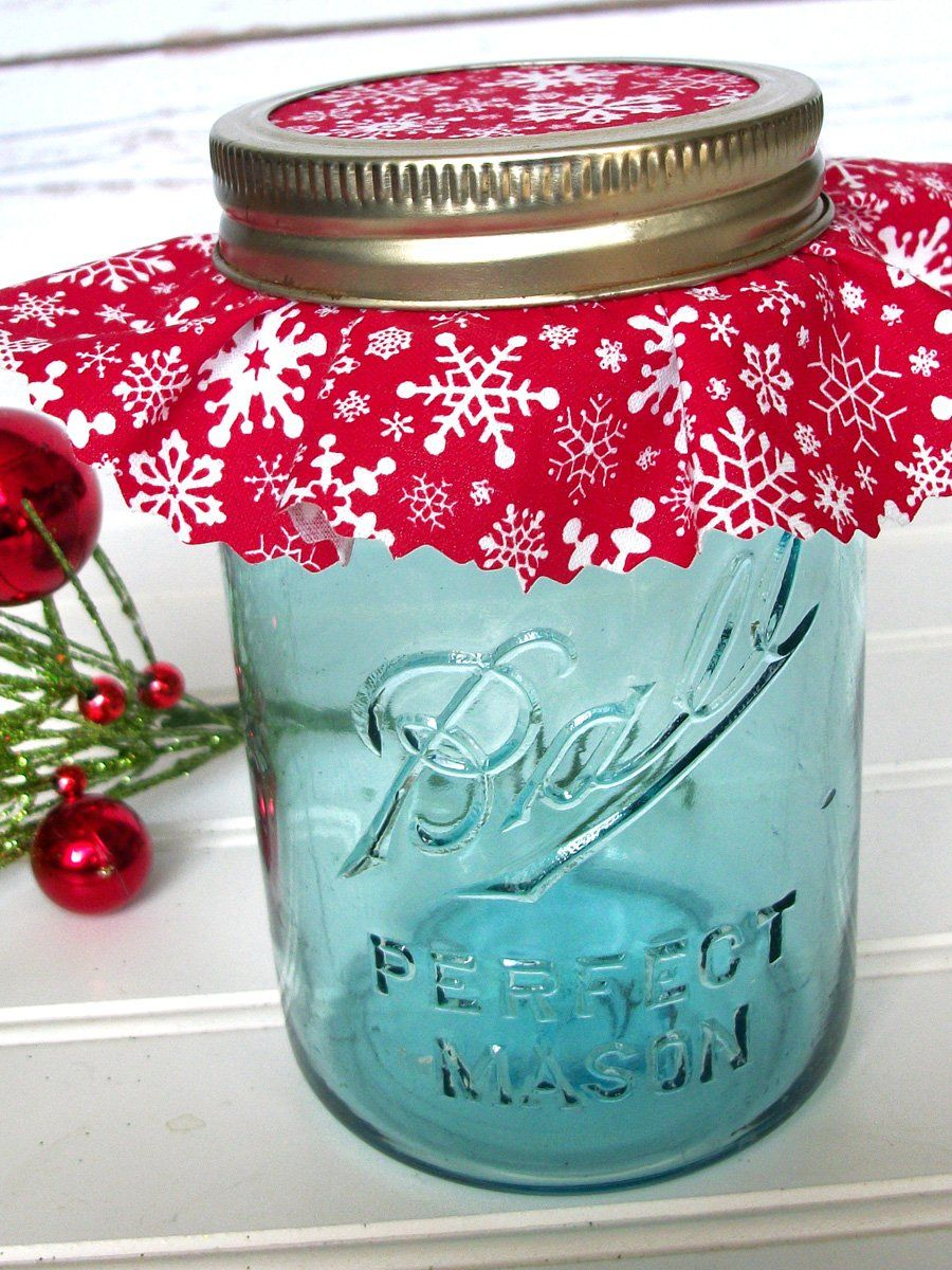 12 Red Christmas Jam Jar Covers Mason Jar Christmas Gifts Holiday Mason Jars Gifts Mason Jar Decorations